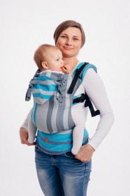 Marsupiu Ergonomic, LennyGo Baby size, Misty Morning