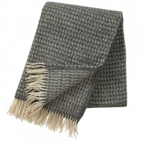 Pled Klippan lână merinos - Leaf grey