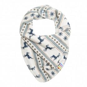Bavetica/esarfa Joha lâna merinos - Jumping Deer, Blue