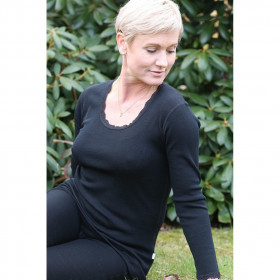 Bluza femei Joha lână merinos - Cecilie Black