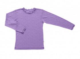 Bluză Joha Eyelet lână merinos si mătase - Basic Purple