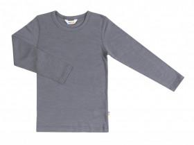 Bluza Joha lână merinos si matase - Basic Grey