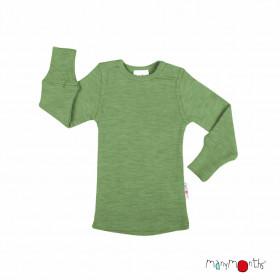 Bluză ManyMonths lână merinos - Jade Green