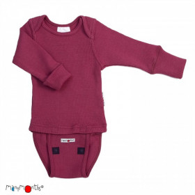 Body/Bluza (2 in 1) ManyMonths lână merinos - Frosted Berry
