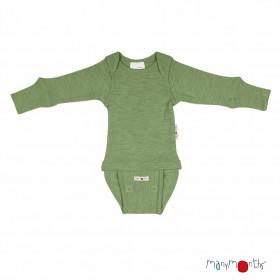 Body/Bluza (2 in 1) ManyMonths lână merinos - Jade Green