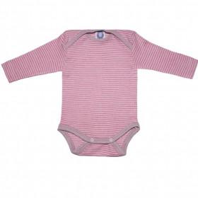 Body Cosilana lână merinos, mătase si bumbac - Grey/Pink