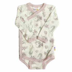 Body kimono Joha lână merinos - Pink Sea Life