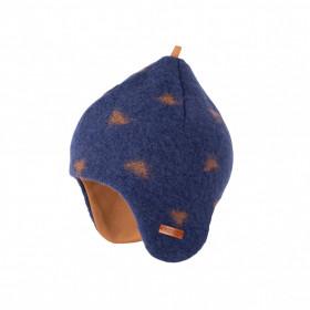 Căciulă din lână fiartă Pure Pure - Inka Blue Caramel