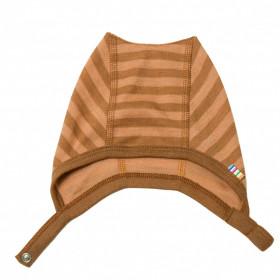 Caciula din lână merinos Joha - Rusty Stripe