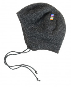 Caciula lână merinos fleece Joha - Basic Dark Grey
