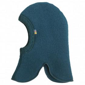 Cagulă dublată Joha lână merinos fleece - Petrol Blue