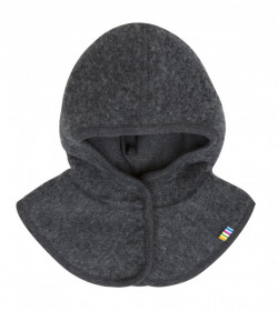 Cagulă Joha windbreaker fleece lână merinos - Grey