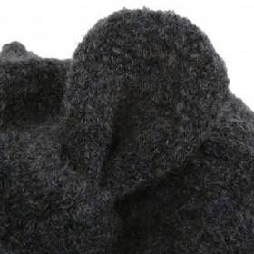Cagulă lână fiarta boiled wool - Grey Melange