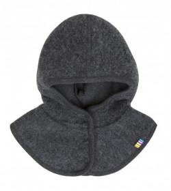 Cagulă lână merinos fleece windbreaker Joha - Basic Grey