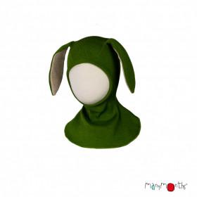 Cagula ManyMonths Bunny Ears lână merinos - Garden Moss Green