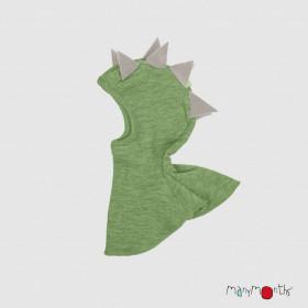Cagulă ManyMonths Dino lână merinos - Jade Green