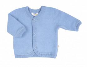 Cardigan din lână merinos fleece, Joha - Basic Blue