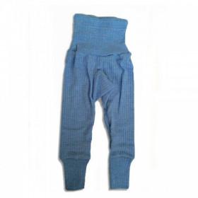 Cei mai comozi pantaloni Cosilana din lână, mătase și bumbac - Albastru melange