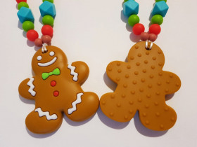 Colier de babywearing, alaptare si dentitie din silicon - Gingerbread