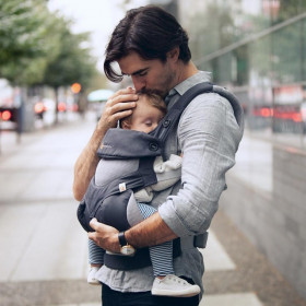 ERGOBABY 360, 4 POZITII -  COOL AIR CARBON GREY
