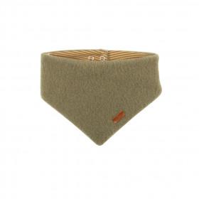 Fular triunghi din lână merinos fleece Pure Pure - Moss