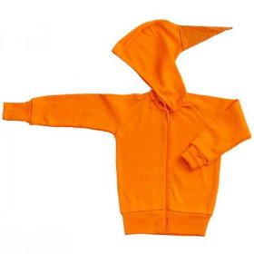 Hoodie ManyMonths lână merinos - Festive Orange, marime 5-7,5 ani