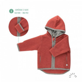 Jachetă lână merinos fleece Iobio - Milo Vintage Red