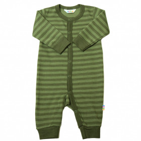 Jumpsuit/Overall din lână merinos Joha - Green Stripe