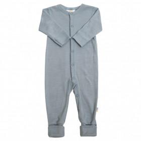 Jumpsuit/Overall din lână merinos și mătase cu/fără șosete Joha - Soft Blue