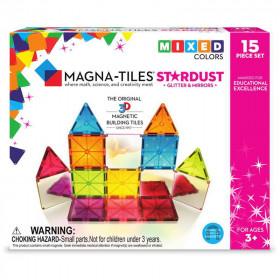 Magna-Tiles Stardust cu sclipici si oglinzi (15 piese)