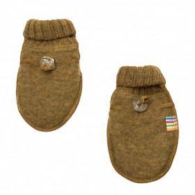 Manusi din lana merinos fleece Joha - Basic Safran Melange