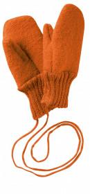 Manusi Disana lână organica boiled wool (lana fiarta) - Orange