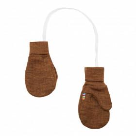 Mănusi Joha din lână merinos - Basic Caramel Melange