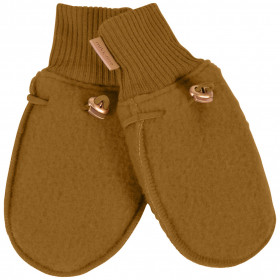 Manusi lana merinos fleece Mikk-line - Golden Brown