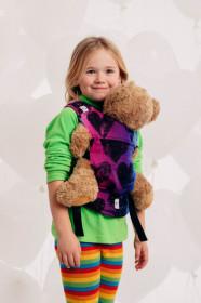 Marsupiu de jucarie pentru copii, Lennylamb, Lovka Pink Violet