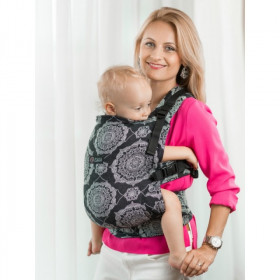 Marsupiu Ergonomic, ISARA V3 Toddler, KALEIDOSCOPIX BLACK DENIM