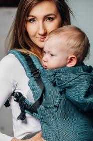 Marsupiu ergonomic, portbebe LennyGo Toddler, Amazonite Full Wrap Conversion