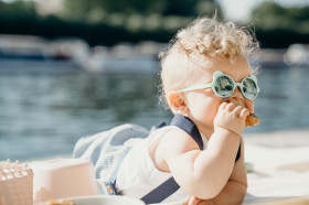 Ochelari de soare Ki ET LA ,2-4 ani - Ourson Almond Green