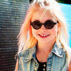 Ochelari de soare Ki ET LA, 6-9 ani - Round Black