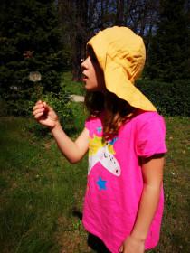 Pălărie ajustabilă ManyMonths Light cânepă și bumbac - Iced Mango