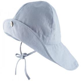 Pălărie ajustabilă ManyMonths Light cânepă si bumbac - Silver Blue
