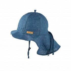 Pălărie ajustabilă Pure Pure din in - Storm Blue