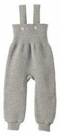 Pantaloni cu bretele lână merinos Disana - Grey