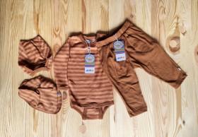 Pantaloni din lână merinos Joha - Single Wool Rusty
