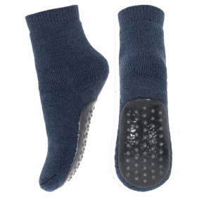 Papuci-sosete groase din lână mp Denmark - Dark Denim
