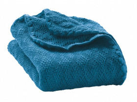 Patura bebelusi din lână merinos tricotata Disana - Blue