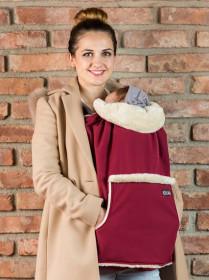 Protectie de iarna marsupiu,  Isara + Gluga, Berrylicious Burgundy (grena)