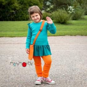 Rochie ManyMonths Unique Fairy lână merinos - Royal Turquoise