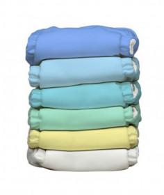 Set 6 scutece textile Charlie Banana - inserturi noi cu fleece , Unisex Pastel