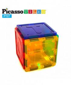 Set PicassoTiles Alfabet - 27 piese magnetice de construcție colorate